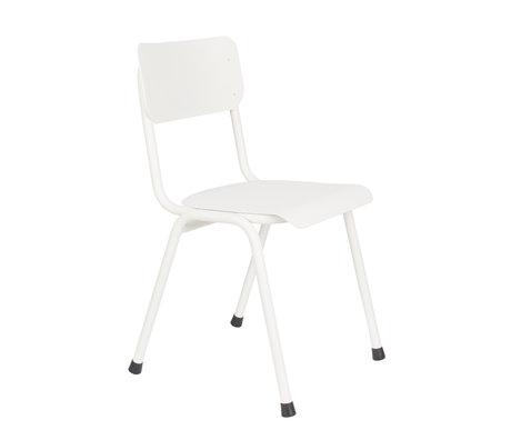 Zuiver Chaise de salle à manger Back to school (extérieur) métal blanc 43x49x82,5cm