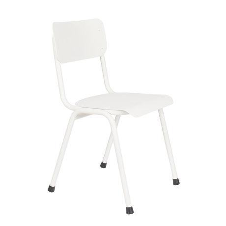 Zuiver Spisestol Tilbage til skolen (udendørs) hvidt metal 43x49x82,5cm