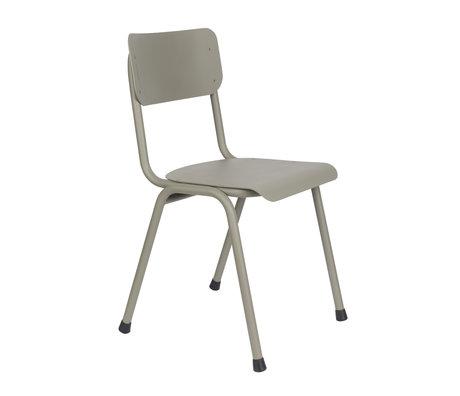 Zuiver Sedia per sala da pranzo Torna a scuola (all'aperto) in metallo verde muschio 43x49x82,5cm