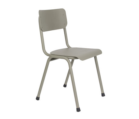 Zuiver Spisestolstol Tilbage til skolen (udendørs) mosgrøn metal 43x49x82.5cm