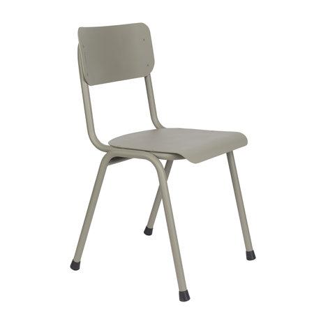 Zuiver Chaise de salle à manger Back to school (extérieur) métal vert mousse 43x49x82,5cm