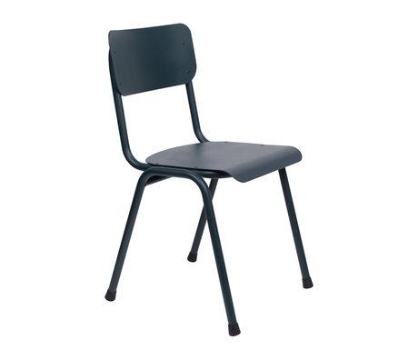 Zuiver Chaise de salle à manger Back to school (extérieur) gris bleu métal 43x49x82,5cm