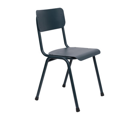Zuiver Dining room chair Back to school (outdoors) gray blue metal 43x49x82.5cm