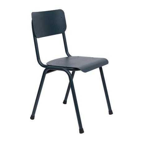 Zuiver Spisestuestol Tilbage til skolen (udendørs) gråblåt metal 43x49x82,5cm