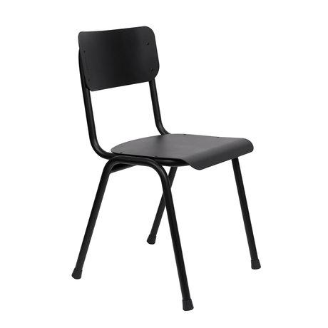 Zuiver Chaise de salle à manger Back to School (extérieur) en métal noir 43x49x82,5cm