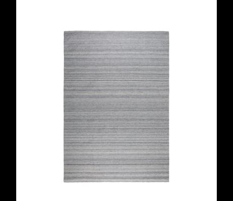 Zuiver Alfombra Sanders lana gris plata 170x240cm