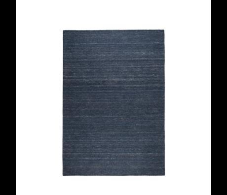 Zuiver Alfombra Sanders lana azul índigo 170x240cm