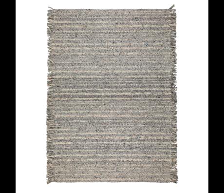 Zuiver Tapis à volants laine bleu gris 170x240cm