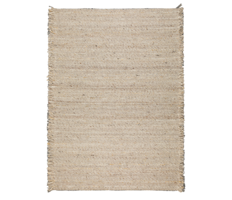 Zuiver Carpet ruffles beige yellow wool 170x240cm