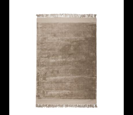Zuiver Tapis Blink textile marron sable 200x300cm