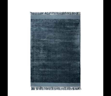 Zuiver Alfombra Blink azul textil 200x300cm