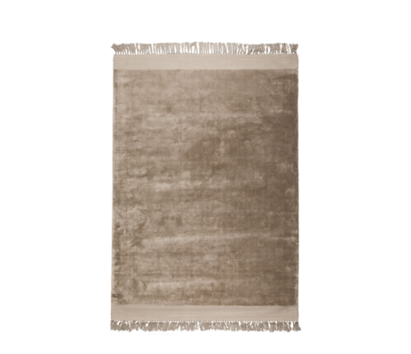 Zuiver Alfombra Blink textil marrón arena 170x240cm