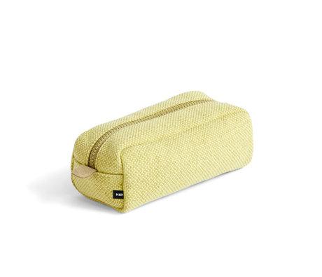 HAY Make-up bag Hue geel textile 20x9x8cm