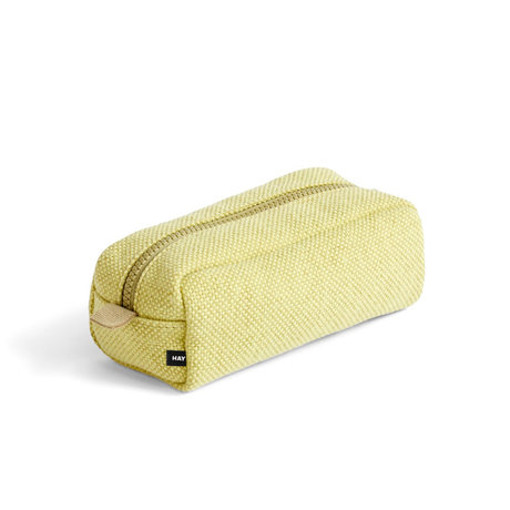 HAY Borsa per il trucco Hue geel textile 20x9x8cm