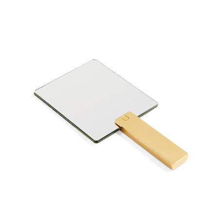 HAY Espejo Espejo Espejo goud aluminio cristal 14x27cm