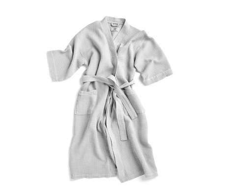 HAY Badjas Waffle grijs textiel - one size