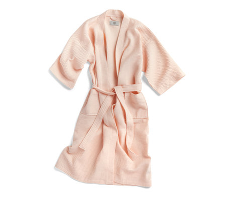 HAY Bademantel Waffel hellrosa Textil - eine Größe