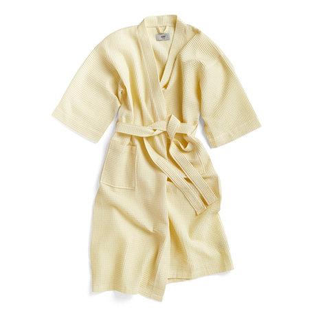 HAY Bademantel Waffel gelbes Textil - eine Größe