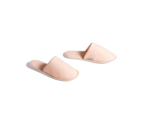 HAY Hausschuhe Waffel rosa Textil - eine Größe