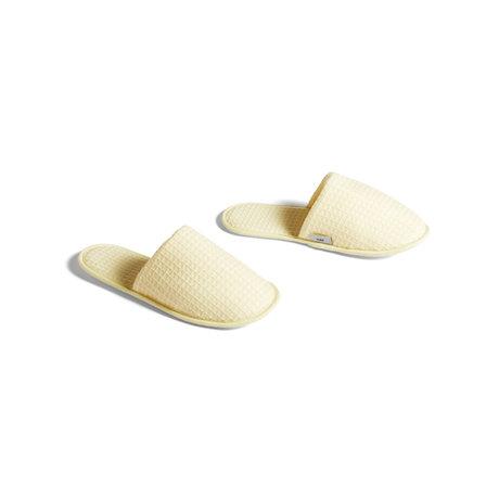 HAY Pantofole Tessuto geel waffle - taglia unica