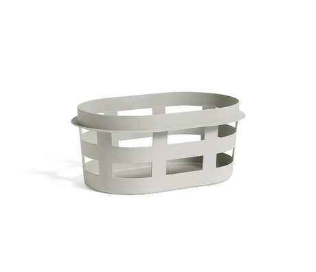 HAY Wasmand Laundry Basket S lichtgrijs plastic 57.5x37.5x24.5cm