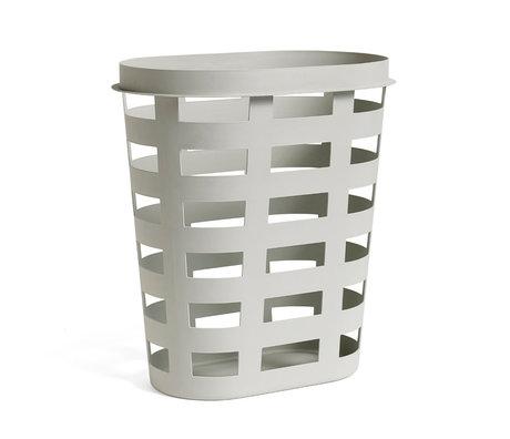 HAY Wasmand Laundry Basket L lichtgrijs plastic 57.5x37.5x62.5cm