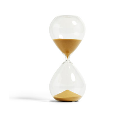 HAY Zandloper Time 120min goud transparant glass ¯16x37.5cm