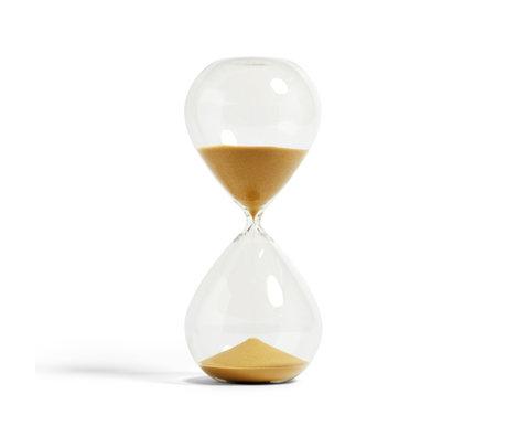 HAY Zandloper Time 120min goud verre transparent ¯16x37.5cm