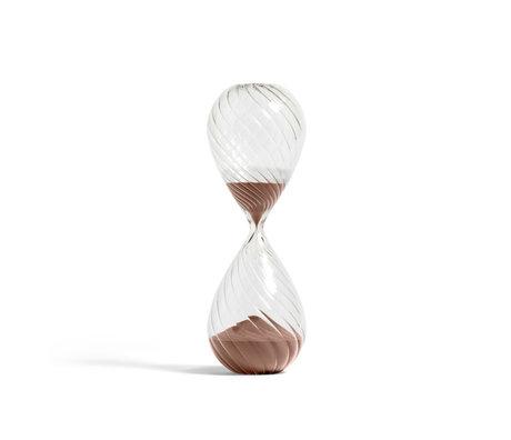 HAY Sanduhrzeit 90min Kupfer transparentes Glas Ø12,5x36cm