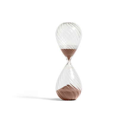 HAY Zandloper Time 90min verre transparent koper ¯12.5x36cm