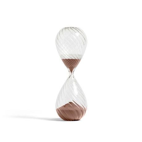 HAY Zandloper Time 90min koper vetro trasparente ¯12,5x36cm