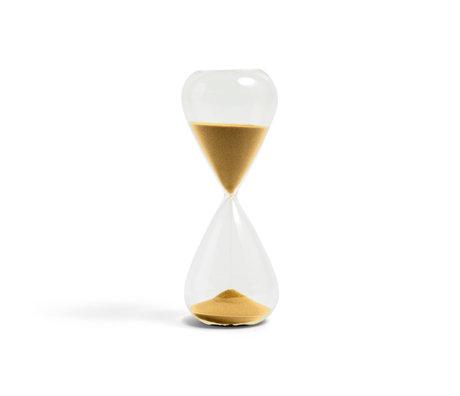 HAY Zandloper Time 45min goud transparant glas ¯9x24cm