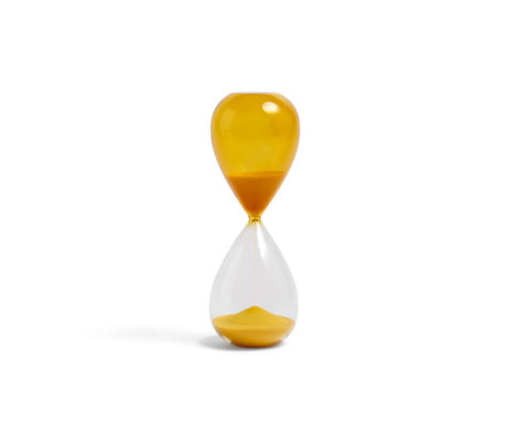 HAY Sanduhrzeit 30min gelbes Glas Ø7,5x19,5cm