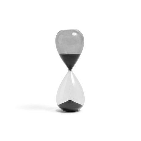 HAY Zandloper Time 30min zwart transparant glas ¯7,5x19,5cm
