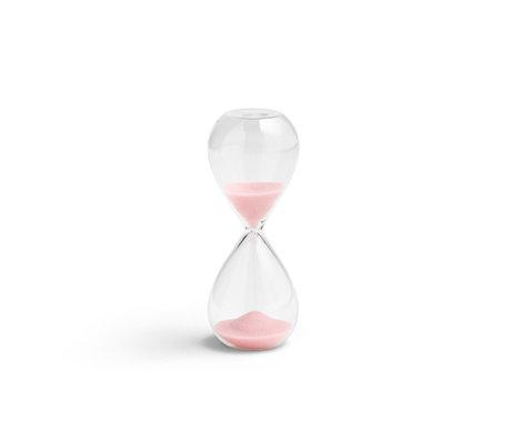 HAY Clessidra tempo 3min vetro trasparente rosa chiaro Ø3,5x9cm