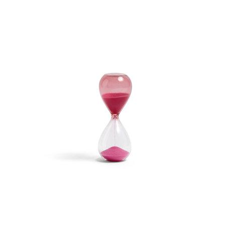 HAY Zandloper Time 3min vetro rosa ¯3,5x9cm