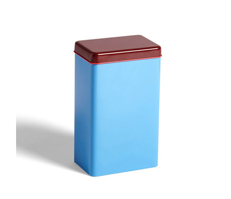HAY Caja de almacenaje aluminio azul 12x8x20cm