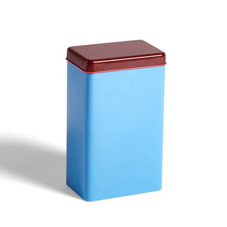 HAY Boîte de rangement aluminium bleu 12x8x20cm