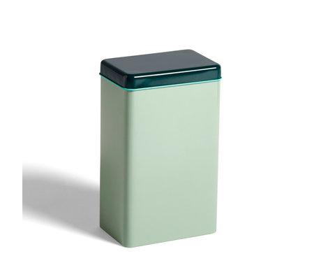 HAY Vorratsdose Dose mintgrün Aluminium 12x8x20cm