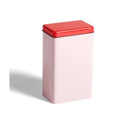HAY Pot de rangement aluminium rose 12x8x20cm