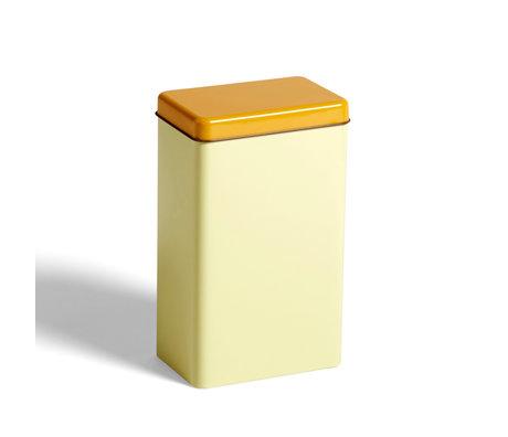 HAY Caja de almacenaje aluminio amarillo 12x8x20cm