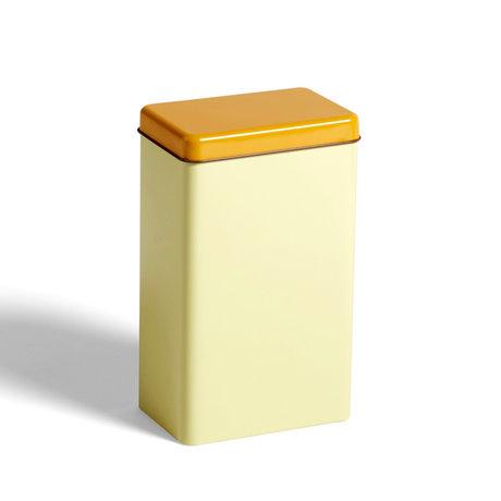 HAY Scatola portaoggetti in alluminio giallo 12x8x20cm