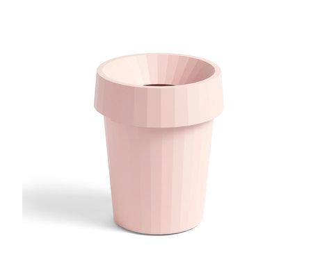 HAY Cestino Shade Bin in plastica rosa chiaro ¯30x36,5cm