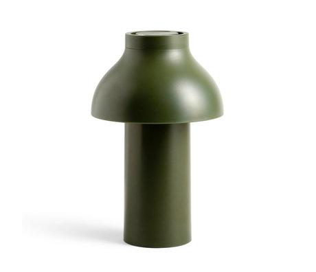HAY Lampe PC Tragbarer olivgrüner Kunststoff ¯14x22cm
