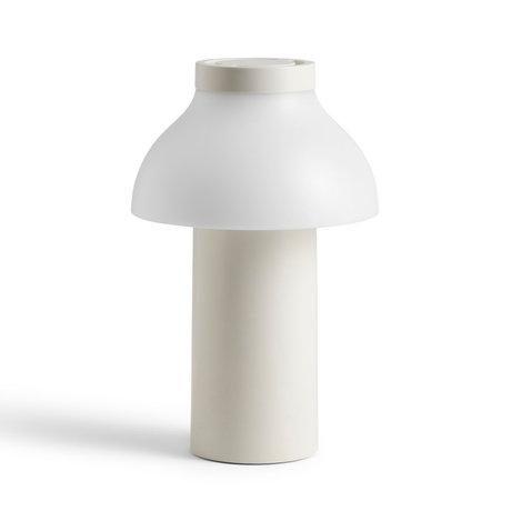 HAY Lampe PC Tragbarer weißer Kunststoff ¯14x22cm