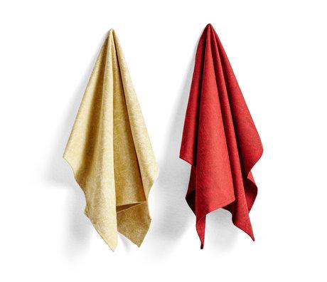 HAY Geschirrtuch Nr. 5 Kugelschreiber Kritzeln rotes Baumwollset von 2 75x52cm