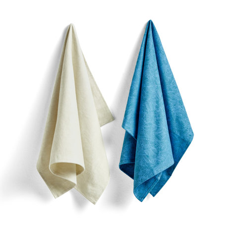 HAY Tea towel No7 Ballpoint Scribble blue cotton set of 2 75x52cm