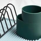 HAY Scolapiatti in silicone verde scuro 13x9,5x13cm