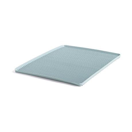 HAY Égouttoir à vaisselle en plastique bleu clair 42x32.5x1.5cm