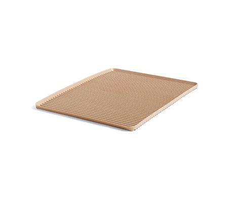 HAY Égouttoir à vaisselle en plastique brun clair 42x32,5x1,5cm